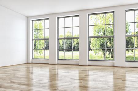 Modern bright interiors. 3d rendered illustration Stock Illustration - 89935336