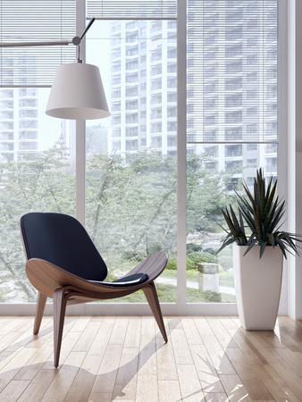 Modern bright interiors 3D rendering  illustration 版權商用圖片