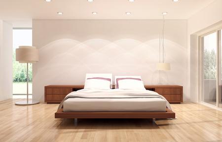 Modern bright interiors 3D rendering illustration Banco de Imagens - 91678105