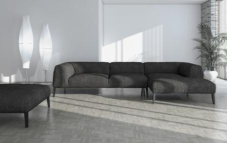 Modern bright interiors 3D rendering illustration Banco de Imagens - 91678503