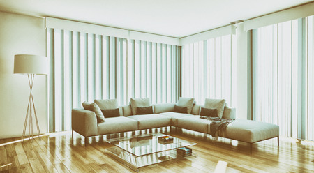 Modern bright interiors room 3D rendering illustration Stock fotó