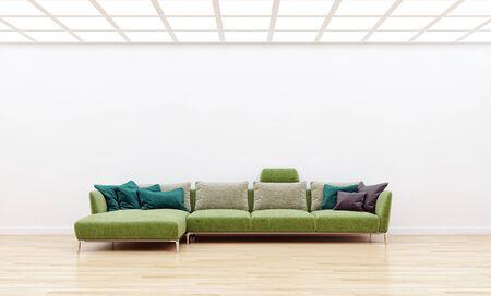 large luxury modern bright interiors Living room illustration 3D rendering computer digitally generated image 版權商用圖片 - 129251293