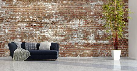large luxury modern bright interiors Living room illustration 3D rendering computer digitally generated image Stock Illustration - 129251357