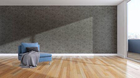 large luxury modern bright interiors Living room illustration 3D rendering computer digitally generated image  Stock Illustration - 129524168