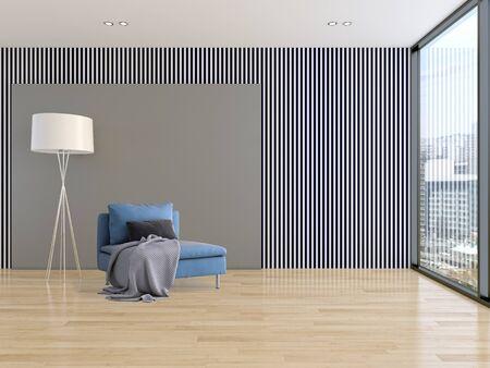large luxury modern bright interiors Living room illustration 3D rendering computer digitally generated image Stock Illustration - 129524036