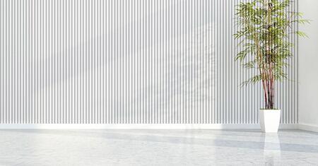 large luxury modern bright interiors empty room illustration 3D rendering computer generated image Stock Illustration - 129524190