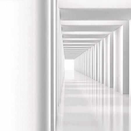 modern bright entrance corridor, apartment interior illustration