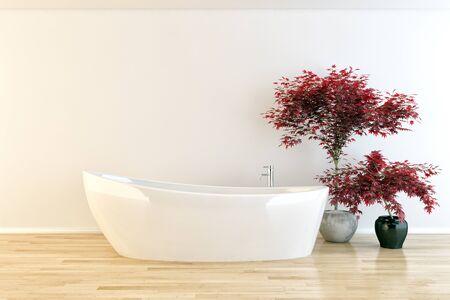 Modern bright interior interiors 3d render illustration 版權商用圖片