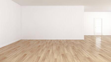 große luxuriöse moderne helle Innenräume leerer Raum Illustration 3D-Rendering computergeneriertes Bild Standard-Bild
