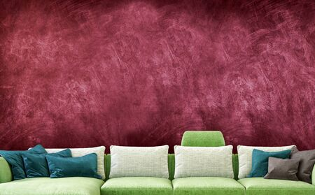 large luxury modern bright interiors Living room mockup illustration 3D rendering computer digitally generated image 스톡 콘텐츠