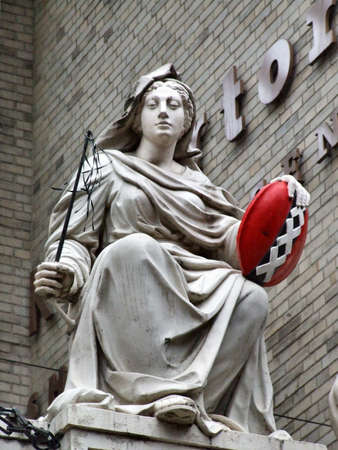 sightsee: A modified Dutch statue Stock Photo