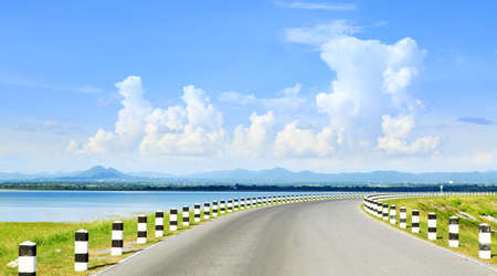 infra construction: pasak dam in lopburi central of thailand