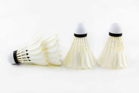 adminton shuttlecock on a white background.