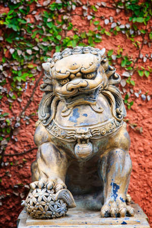 spiritual architecture: Statue of Lion in public garden