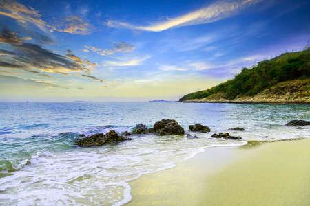 Beautiful beach at Chonburi Thailand