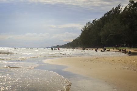 Beautiful day in Summer at ra young beach, Thailand