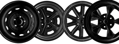 Steel alloy car rims over the white background Stock Photo - 15786018