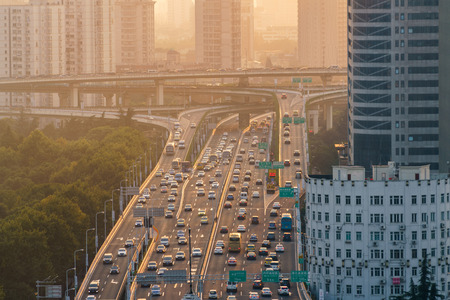 Urban traffic in a busy city of China