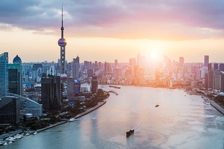 Huangpu River view at Shanghai