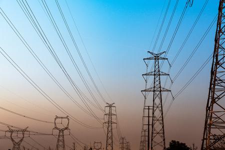 High voltage wire tower