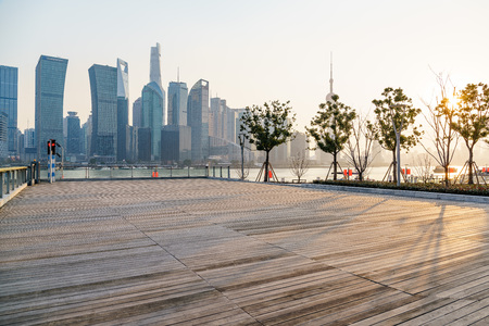 The prospect of Lujiazui in Shanghai