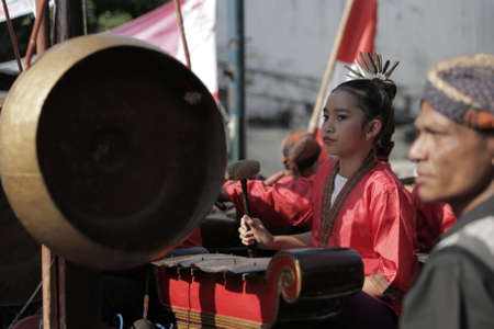 Indonesian Girl Traditional Java Music Instrument Culture Carnival
