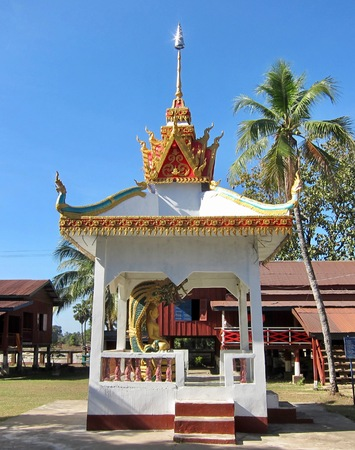 Buddhist Temple on the island of Don Khon,Laos