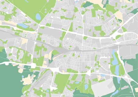 vector city map of Katowice, Poland Ilustracje wektorowe