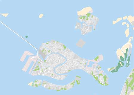 vector city map of Venice, Italy