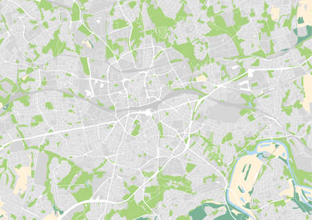 vector city map of Essen, Germany