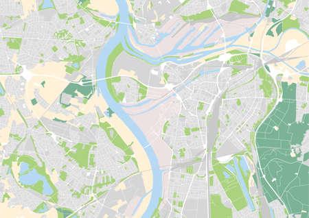 vector city map of  Germany