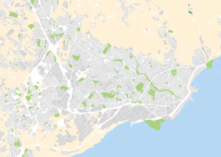 vector city map of Santa Cruz de Tenerife, Spain