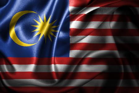 Banderas del mundo con textura satinada sedosa. Creado digitalmente. Foto de archivo