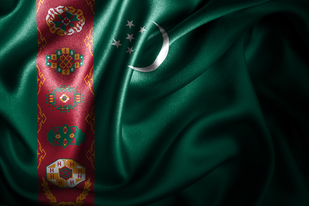 Flags of the world with silky satin texture. Digitally created.