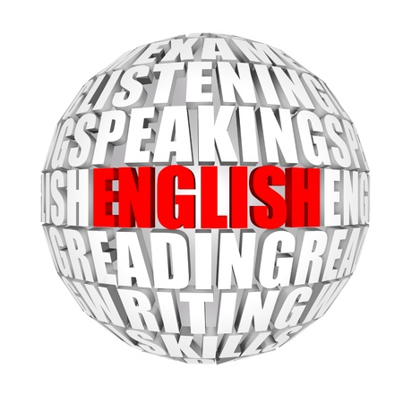 latin language: English Around Us Stock Photo