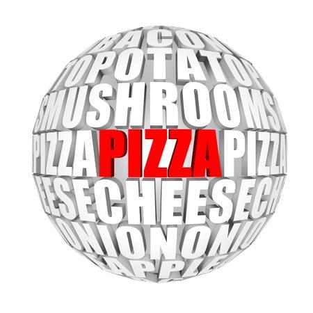 3d pizza: Italian food