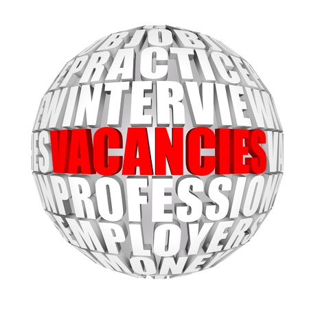 vacancy: Time to take jobs Stock Photo