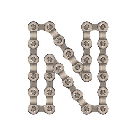 chainlinked: Chain alfabet Stockfoto