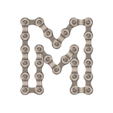 Chain alphabet Foto de archivo