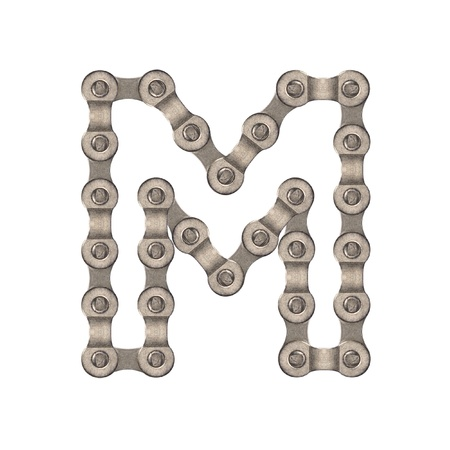 linked chain: Chain alphabet Stock Photo