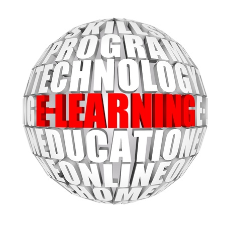 attend: E-learning Stock Photo