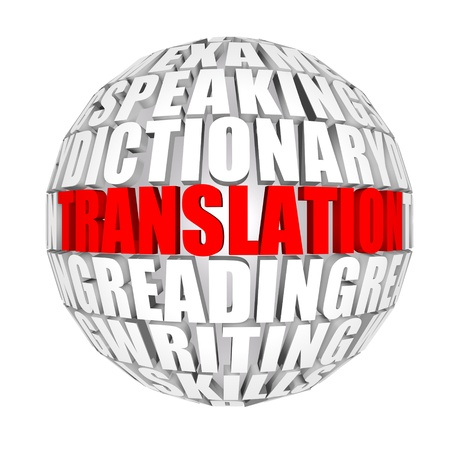 pronounce: translation Stock Photo