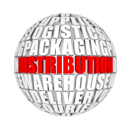 ball and chain: distribution Stock Photo