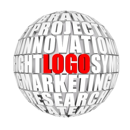 trademark: logo Stock Photo