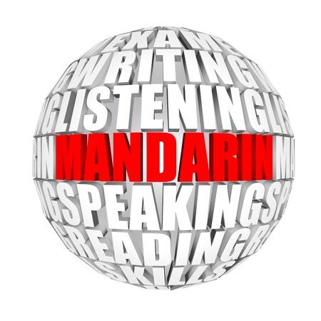 idiomas: mandar�n  Foto de archivo