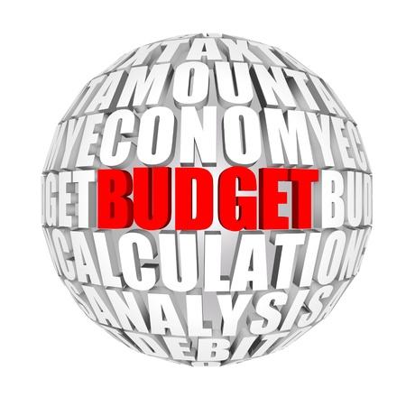verhogen: Begroting  Stockfoto