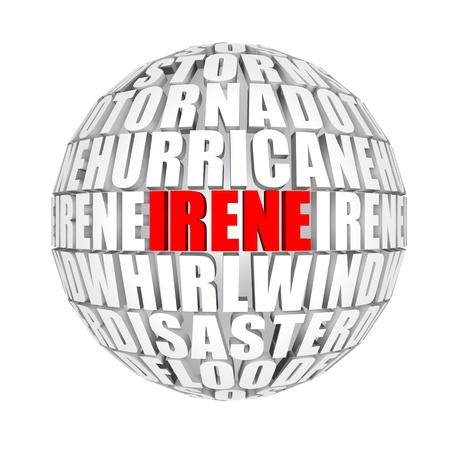 Hurricane Irene on a Globe, 3D render photo