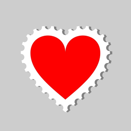 stamp heart photo