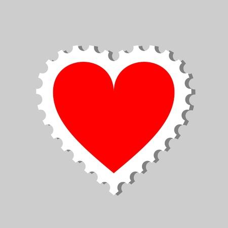 post scripts: stamp heart