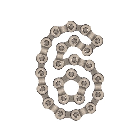 numbers of chain Stock Photo - 12210780